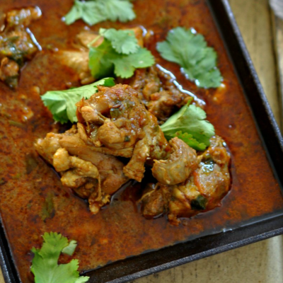 Punjabi Style Pressure Cooker Chicken Curry