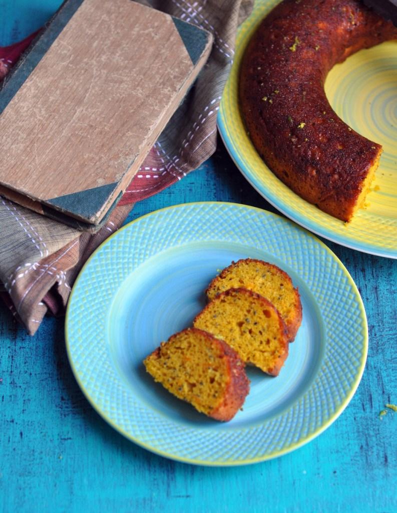 Mango Chia Seed Cake slice