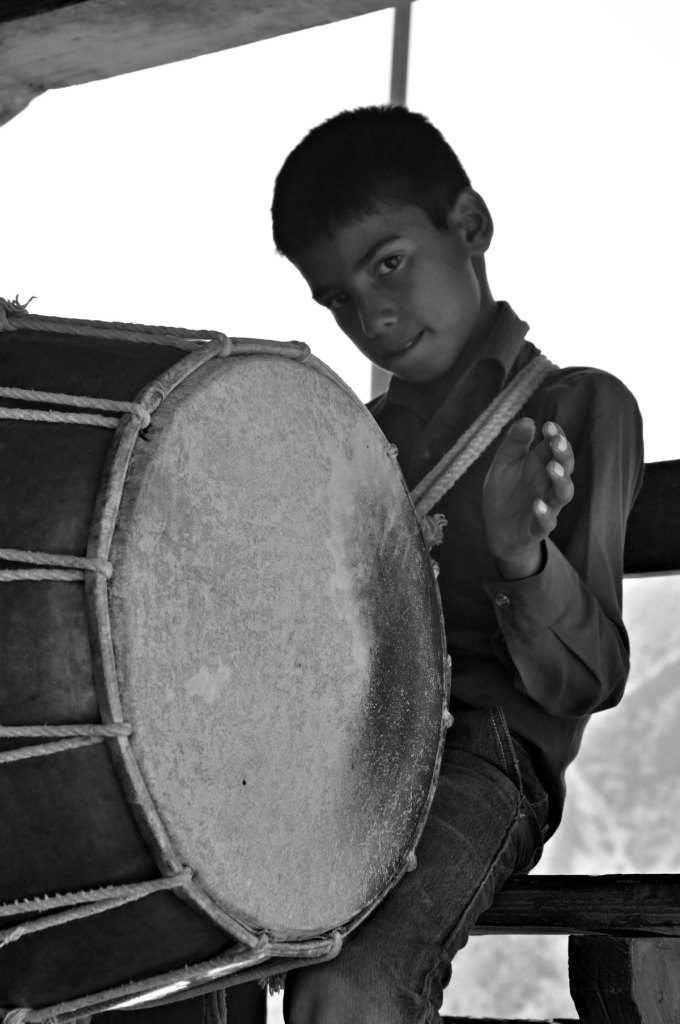 Drumming Child