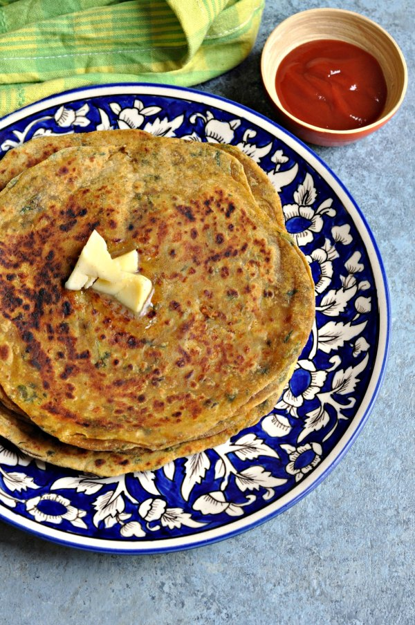 Avocado Cheese Parantha
