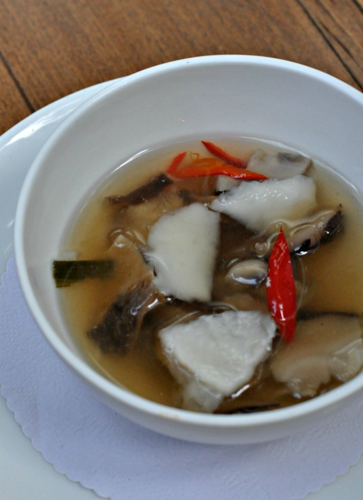 Chilled Mushroom & Young Coconut Soup