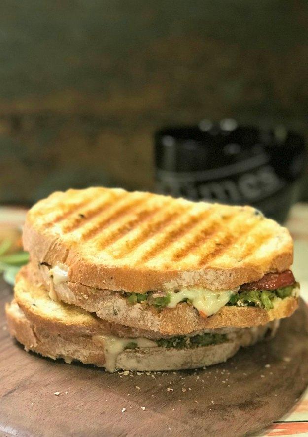 green peas sandwich