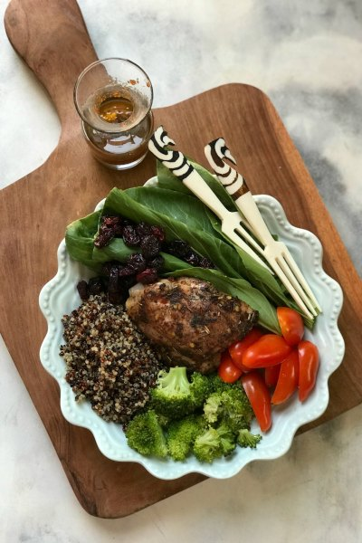 Easy Chicken Salad with Cranberry and Quinoa
