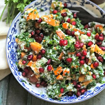 Winter Tabbouleh Salad : Persimmon Tabbouleh Recipe