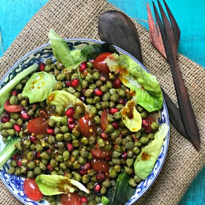 Cholia & Anar Salad | Fresh Garbanzo beans Salad