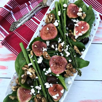 Fig and Asparagus Salad with Grape Vinaigrette