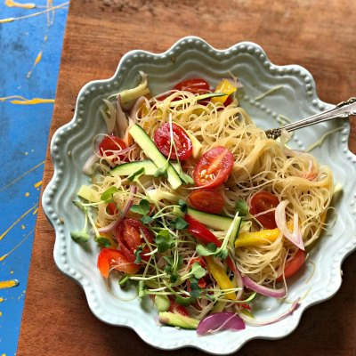 Vegan Gluten Free Green Tea Glass Noodle Salad