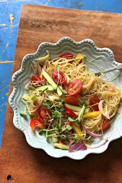 Vegan Gluten Free Green Tea Glass Noodle Salad