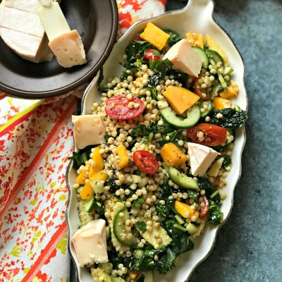 Gluten Free Jowar Salad with Mango and Kale