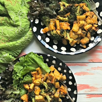 Sweet Potato Salad with Broccoli and Chipotle Dressing