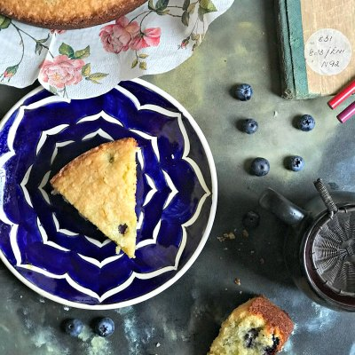 Almond Coconut Blueberry Cake – Moist & Old fashioned