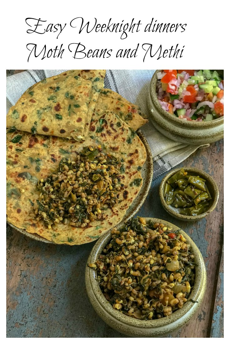 If you are looking for a super healthy, easy and quick weeknight dinner. This Moth beans and methi is your answer! Perfect with some bread or rotis on the side.  #sinamon #IndianFood #QuickDiners #Vegetarian #HighProtein