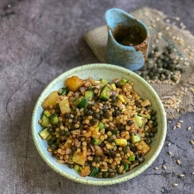 Hole Salad with Ghughniya – Roasted Green Chickpeas & Wheat Salad