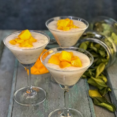 Coconut Tapioca pudding with Kaffir Lime and Mango