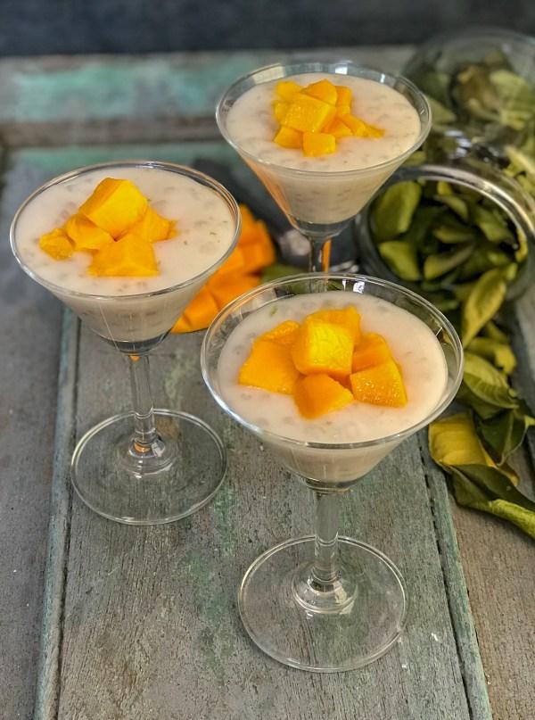 Kaffir Lime Tapioca pudding
