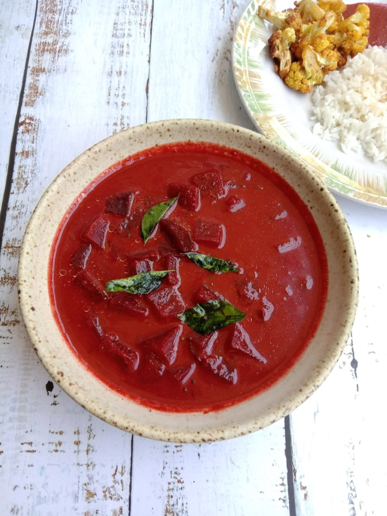Udipi Style BeetRoot Curry