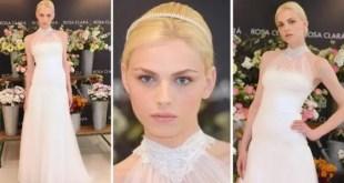 Modelo andrógino desfila vestido de novia - Fotos