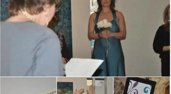 Tras sufrir divorcio vuelve a casarse... consigo misma
