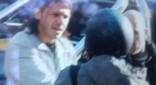 Martín Demichelis a las trompadas con periodistas