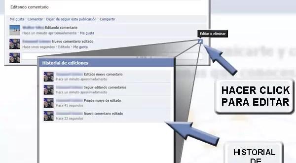 Facebook lanza la edición de comentarios