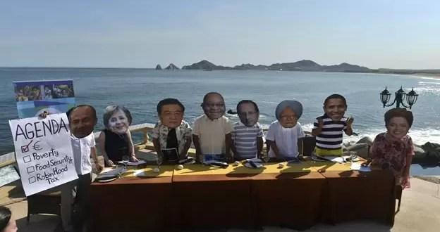 La presión a los líderes reunidos en el G20