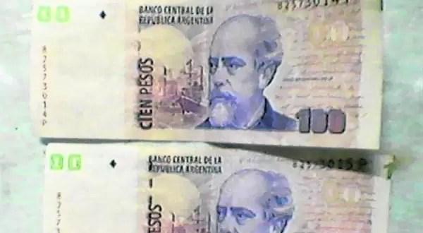Billetes de $100 con defectos en su confección