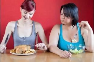 ¿Por qué algunas personas comen mas y no engordan?