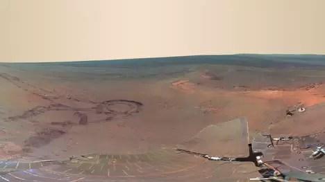 Espectacular foto panorámica de Marte