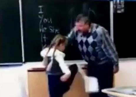 Video: Niña da patada en los testículos a su profesor