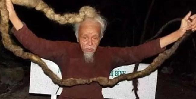 Foto: Éste hombre hace 70 años que no se corta el pelo