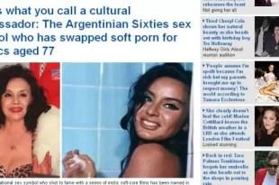 Así ve el diario Daily Mail a la Coca Sarli