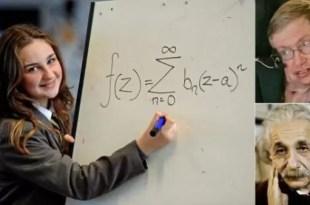 Conoce a la niña de 12 años que es más inteligente que Einstein