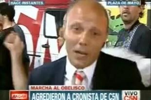 Video: Agreden a periodista de C5N en marcha 8-N