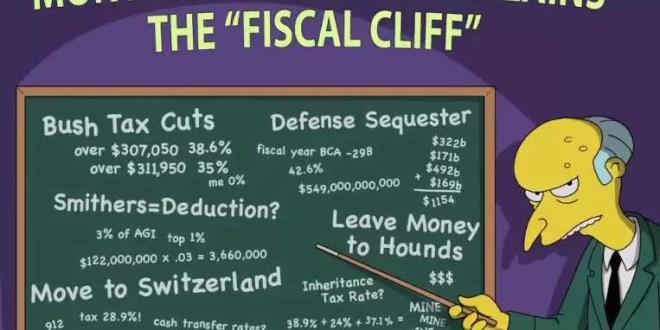 Video: Qué es el 'abismo fiscal' explicado por el Sr. Burns