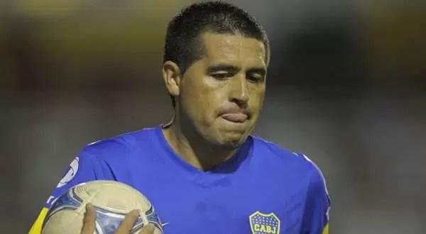 Juan Román Riquelme fuera del Palmeiras