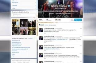 Cristina Kirchner maneja su cuenta de Twitter
