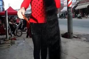 Fotos increíbles: Hace 11 años que no se corta el pelo