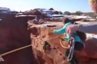 Video: Tira a su novia al Gran Cañón y lo publica en internet