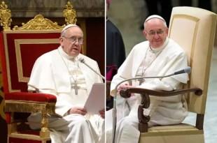 El Papa Francisco reemplaza el trono de oro por un sillón