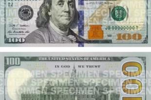 Conoce cómo es el nuevo billete de 100 dólares