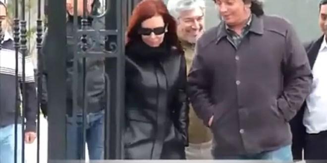 Video inédito de Cristina, Máximo y Lázaro Báez