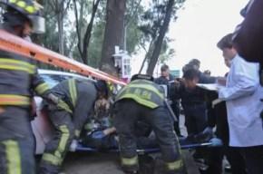 Fotos fuertes: murió decapitado al chocar con un árbol