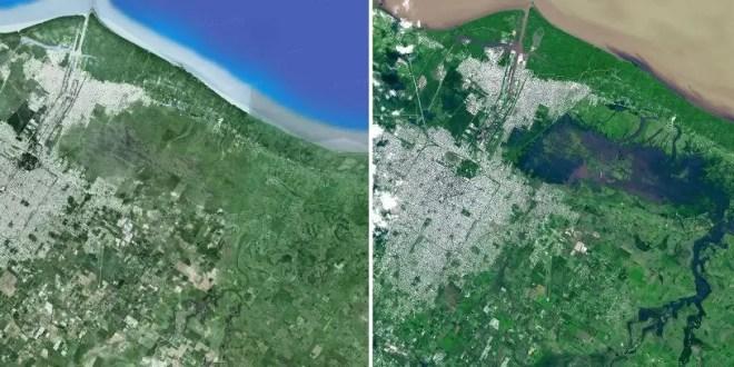 Foto: La Plata antes y después de la inundación
