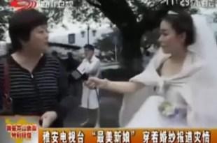 Periodista abandona su boda para cubrir terremoto en China
