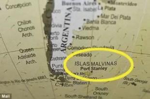 Tienda inglesa vende globo con el nombre 'Islas Malvinas'