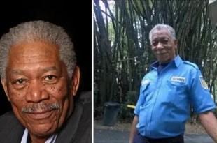Es igual!! Foto del doble venezolano de Morgan Freeman