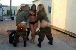 Foto: Mujeres soldados en ropa interior