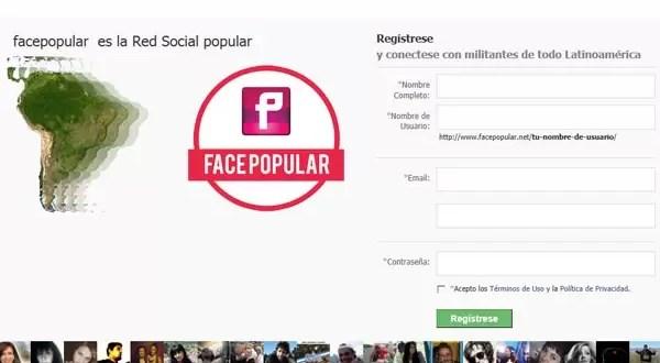 Así es FacePopular, la red social de Luis D'Elía