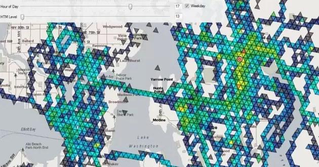 Un software predice ubicaciones futuras