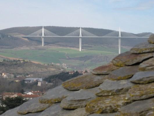 Il viadotto di Millau visto dalla torre Beffroi